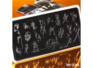 Пластина для стемпинга Art-A A236