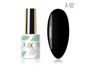MIO Nails A-02 гель-лак Черная жемчужина. 8мл