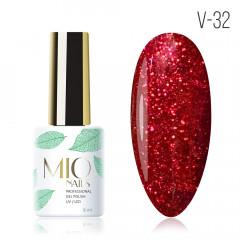 MIO Nails V-32 гель-лак Пламя страсти. 8мл