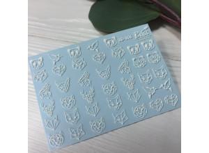 Слайдер-дизайн 3D - 106 белый